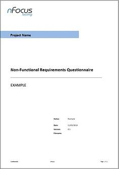 Non-Functional Requirements Questionnaire