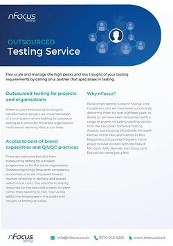 Outsourced Testing Consultancy