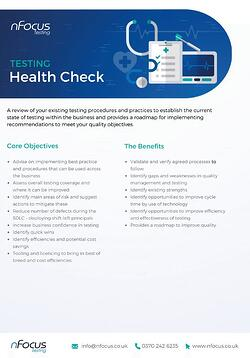 Testing Health Check Service Overview Datasheet